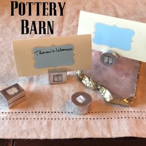 Pottery Barn Mother of Pearl Placecard Holders